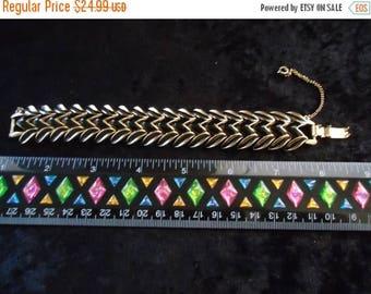 On Sale Vintage Gold & Black Bracelet Retro Collectible Costume Jewelry
