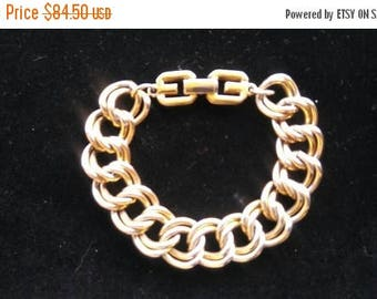 Now On Sale Vintage Givenchy Bracelet, Haute Couture Chunky Wide Designer Signed Jewelry