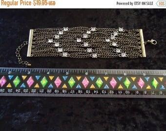 Now On Sale Vintage Rhinestone Bracelet Retro Collectible Costume Jewelry