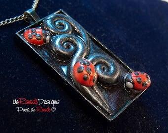 Black Ladybugs Pendant