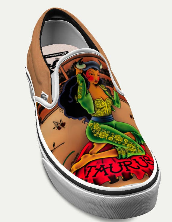 Taurus: Limited Edition Horoscope Custom Vans (Women's)
