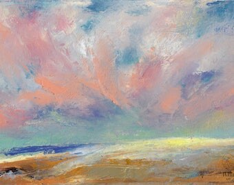 The Sky in Brushstrokes - 4x6 inches ORIGINAL OIL PAINTING