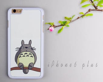Totoro iPhone 6 plus case, White iPhone 6s plus Plastic case, iPhone 6s PC cover - HTPC6P03