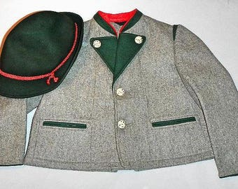 Austrian Tirol Child Jacket and Hat From Europe Vintage 1960's