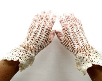 Antique Laced Gloves - Perfect for a Bride
