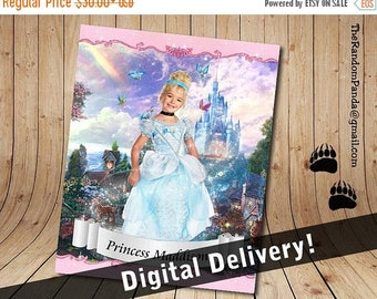 ON SALE Personalize Kids Poster, BE Cinderella Poster, Cinderella Party Wall Art