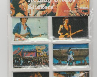 Rolling Stones puffy stickers Made in Taiwan 1983