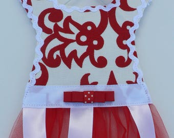 Red and White Barrette Holder