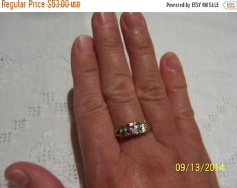 TWICE A YEAR, 25% Off Vintage Multigems ring. Sterling silver.