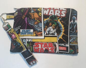 Star Wars Wristlet Bag and Detachable Key Fob