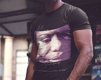 Nina Simone 'No Fear' Short-Sleeve Unisex T-Shirt