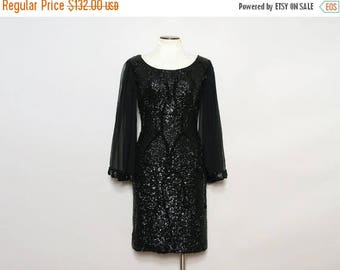 MOVING SALE 60s Party Dress. Angel Sleeve Dress. Black Sequin Dress. Long Sleeve Dress. Chiffon Sleeve Dress. Beaded Dress. Sheer Sleeve Dre