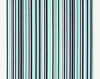 """SUMMER SALE Fat Quarters (18""""x22"""") ONLY - Sprout Slender Stripes From Michael Miller's Mini Mikes Collection"""