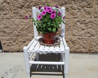 Vintage Painted chair PICK UP ONLY cottage, country, patio, porch,  accent, garden, flowers, vintage, front steps, stairs, shabby chic