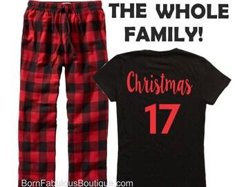 Family PJ's,Family Christmas Pajamas,Matching Christmas,Christmas pjs,Personalized Christmas pajamas,kids pj's