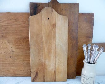 Vintage Cutting Board, French Chopping Block, Vintage Butcher Block, French Cutting Board, Found in France, French Country Decor