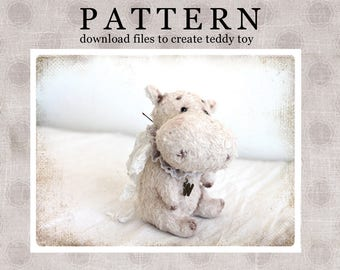 PATTERN Download to create Hippo for Mother day 5 inches