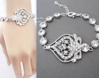 Crystal bracelet ~ Wedding bracelet ~ Crystal wedding bracelet ~ Brides bracelet ~ Bridal jewelry ~ Bridal bracelet ~ MAE