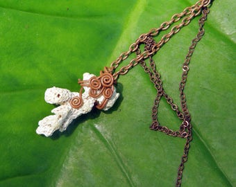 White Coral Necklace / Handmade Jewelry / Nautical