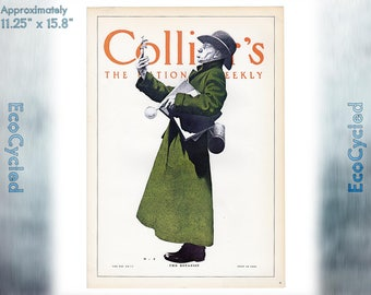 Maxfield Parrish Vintage Poster Print Botanist Colliers magazine cover ready to frame print vintage art print Paper Ephemera Book Page z23
