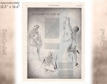 Ladies Home Journal 1935 Antique Magazine Ads Advertisements Antique Vintage Paper Ephemera ready to frame art print vintage ads coffee z14