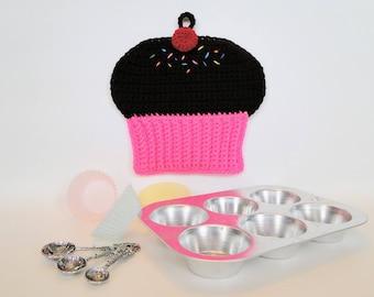 Cupcake Potholder Crochet Pattern - Cupcake Pot Holder Crochet Pattern - Cupcake Hotpad Crochet Pattern - Instant Download PDF