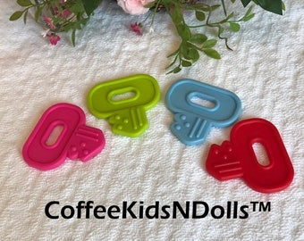 Baby Key Teether // Stroller Toy // Birthday Party Favor //  Baby Toys // Teething Toy // Toy Making Parts // Baby Teething // Handmade Baby