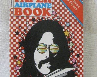 Vintage First Edition Peter Max Paper Airplane Book AMAZING CONDITION