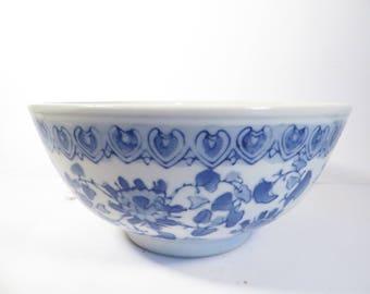 Vintage Blue White Chinoiserie Bowl - Asian Blue White Bowl