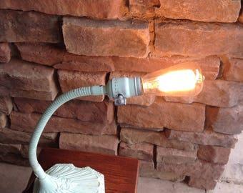 Vintage Cast Iron Goose Neck Lamp