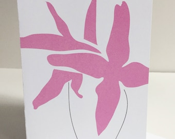 Pink Flower - Single Card
