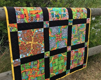 Quilted Baby Blanket, Eye Spy Game, Toddler Quilt, Child's Quilt, Homemade Quilt