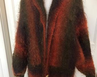 Handmade Mohair Cardigan Fabulous Colours