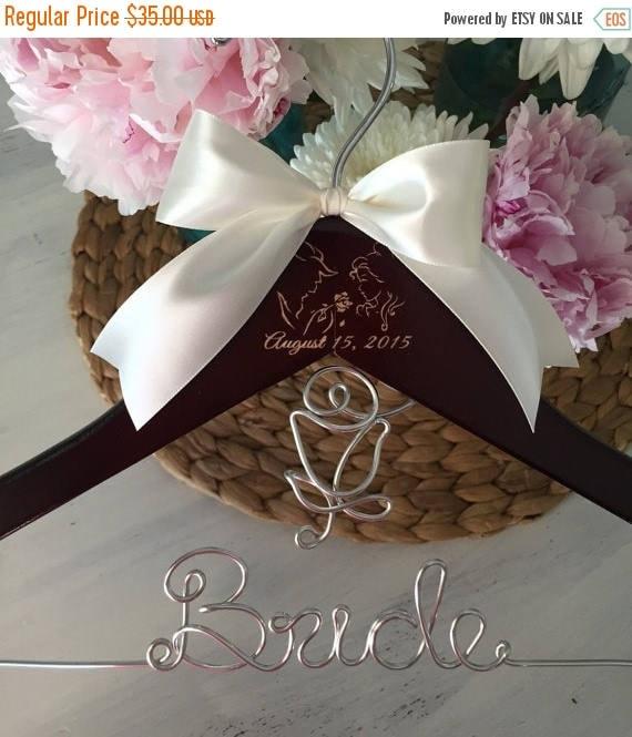 Surprise Sale Personalized Bridal Wedding Hanger Bridal: XMAS SALE Wedding Hanger Princess Bride Hanger Personalized