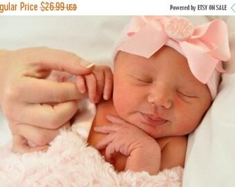 SALE 25% OFF Newborn hat, newborn hospital hat with bow, newborn girl, newborn girl hat, hospital newborn hat, newborn hat, baby hat, her fi