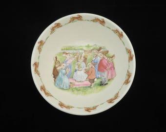 Royal Doulton Bunnykins Bowl,Royal Doulton Bunnykins Queen of May Porridge Bowl, Bunnykins Cereal Bowl, Bunnykins China, Royal Doulton Bowl