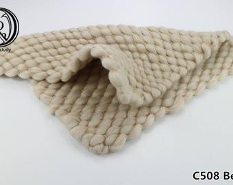 45x40cm Handwoven Lopi Acrylic Blanket Basket Stuffer Filler Newborn Baby Photography Backdrops Photo Studio Props Shower Gift