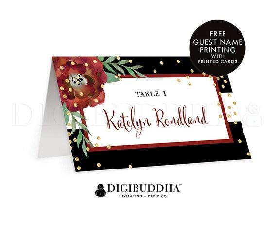 TENTED PLACE CARDS Holiday Wedding Escort White Christmas Wedding