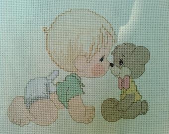 Baby and Bear Cross Stitch