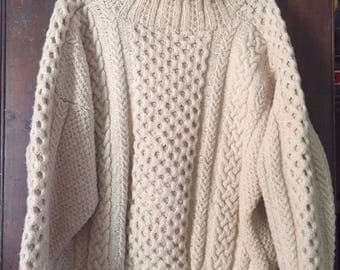 Cabled Aran Knit Sweater