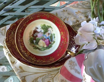 Vintage Norcrest Two Piece China Tea Cup and Saucer Set made in Japan