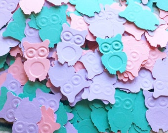 Owl Baby Shower Decoration, Pastel Owl Baby Shower, 1st Birthday Owl Decor, Owl Baby Shower Girl, Owl Confetti, Owl Party Confetti