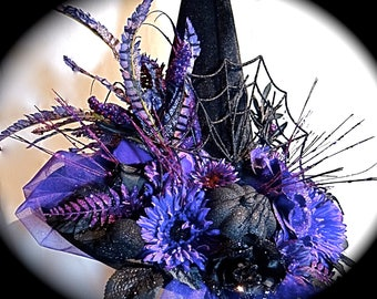 Midnight Ghoulash Witch Hat Halloween Costumes Elegant Wiyches Hata WH-123