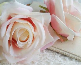 7 cm Forest Series Big Rose Silk Flower / Artificial Flowers/wedding/ Flower crown /Flower Bouquet/ Brooch/Tutu/Hat /Shoe accessories(t.a)