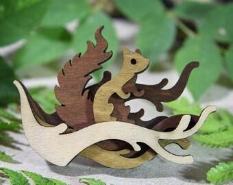 SALE Squirrel Brooch - Woodland Collection