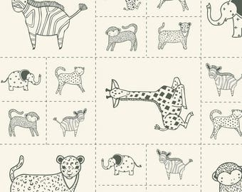 Moda - Savannah by Gingiber - Critters Galore Panel - Charcoal