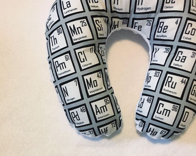 Periodic Table Travel Neck Pillow for Children and Adults