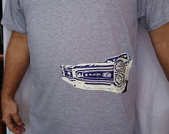 Classic Car GTO Sidewinder on 100% Polyester T-shirt