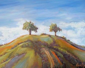 Two Trees Ventura, Landscape prints,Ventura art,Two Trees prints, Prints of two trees, Ventura Two Trees, Two Trees Ventura prints, Ventura