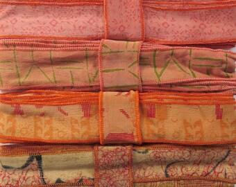 12 Yards of Silk Trim, 4 colors, E49